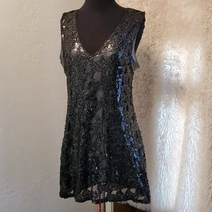 Black shimmery dress